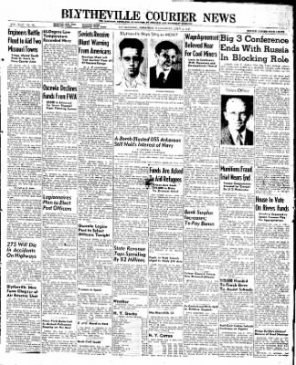 The Courier News from Blytheville, Arkansas on July 2, 1947 · Page 1