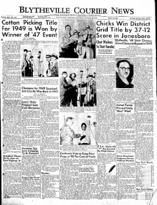 The Courier News from Blytheville, Arkansas on October 15, 1949 · Page 1