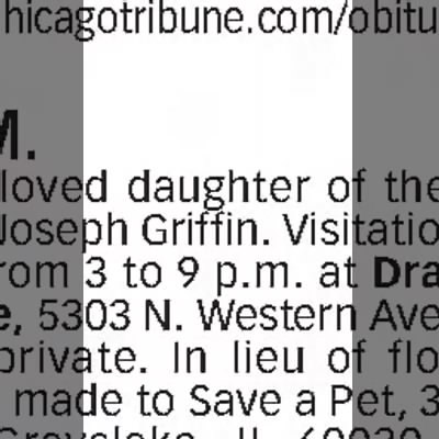 Rita Griffin's Obituary -