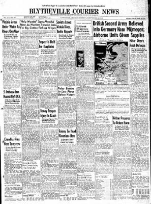 The Courier News from Blytheville, Arkansas on September 20, 1944 · Page 1