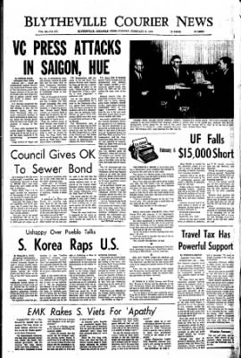 The Courier News from Blytheville, Arkansas on February 6, 1968 · Page 1