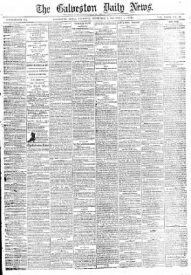 The Galveston Daily News from Galveston, Texas on September 2, 1880 · Page 1