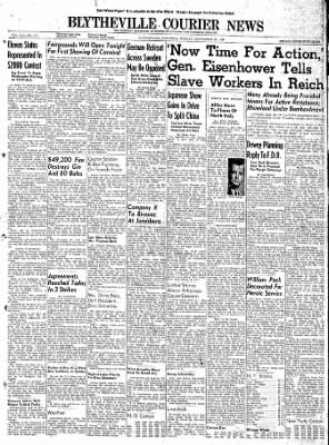 The Courier News from Blytheville, Arkansas on September 25, 1944 · Page 1
