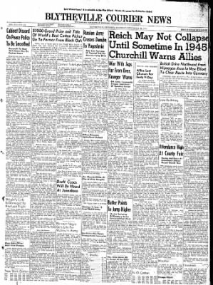 The Courier News from Blytheville, Arkansas on September 28, 1944 · Page 1