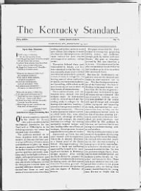Sample The Kentucky Standard front page