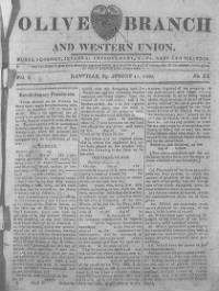 Sample The Olive Branch and Western Union front page
