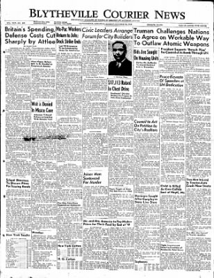 The Courier News from Blytheville, Arkansas on October 24, 1949 · Page 1