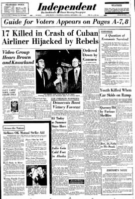 Independent from Long Beach, California on November 3, 1958 · Page 1