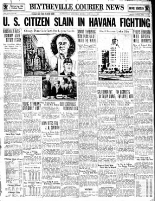 The Courier News from Blytheville, Arkansas on October 2, 1933 · Page 1