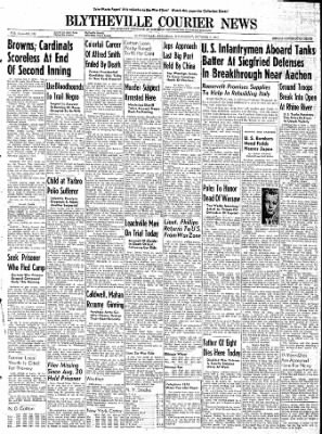 The Courier News from Blytheville, Arkansas on October 4, 1944 · Page 1