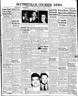 The Courier News from Blytheville, Arkansas on July 16, 1947 · Page 1