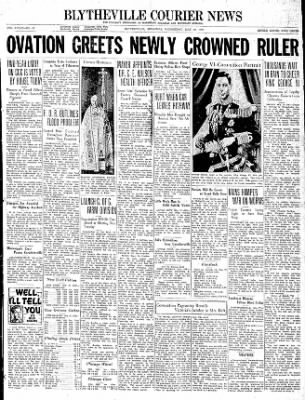 The Courier News from Blytheville, Arkansas on May 12, 1937 · Page 1
