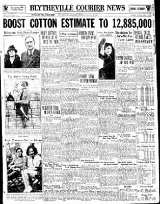 The Courier News from Blytheville, Arkansas on October 9, 1933 · Page 1