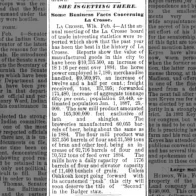1886 Board of Trade Annual Meeting Highlights