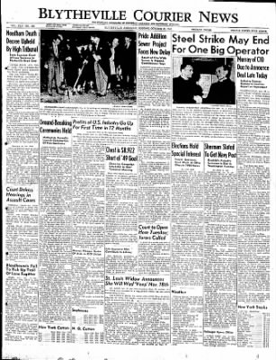 The Courier News from Blytheville, Arkansas on October 31, 1949 · Page 1