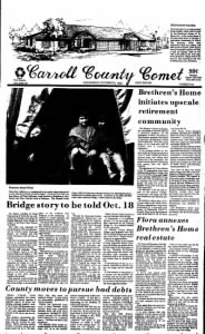 Sample Carroll County Comet front page