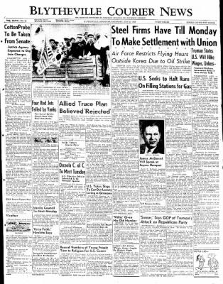 The Courier News from Blytheville, Arkansas on May 3, 1952 · Page 1