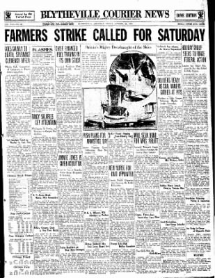 The Courier News from Blytheville, Arkansas on October 20, 1933 · Page 1