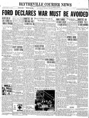 The Courier News from Blytheville, Arkansas on November 11, 1937 · Page 1