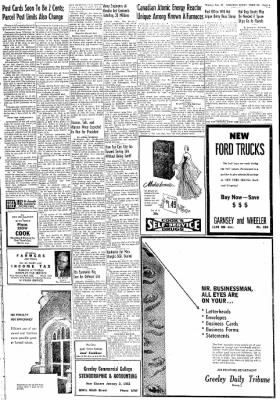 Greeley Daily Tribune from Greeley, Colorado on December 31, 1951 · Page 5