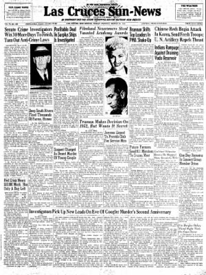 Las Cruces Sun-News from Las Cruces, New Mexico on March 30, 1951 · Page 1
