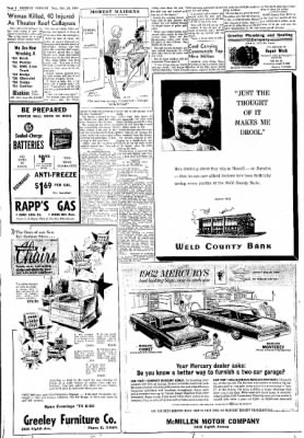 Greeley Daily Tribune from Greeley, Colorado on October 23, 1961 · Page 4
