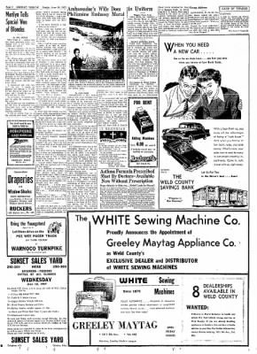 Greeley Daily Tribune from Greeley, Colorado on June 10, 1957 · Page 16