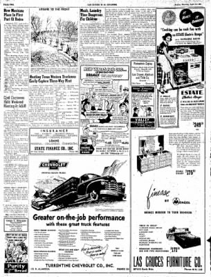 Las Cruces Sun-News from Las Cruces, New Mexico on April 15, 1951 · Page 2