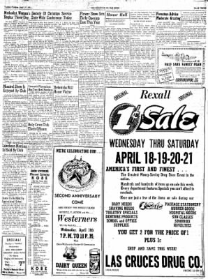 Las Cruces Sun-News from Las Cruces, New Mexico on April 17, 1951 · Page 3