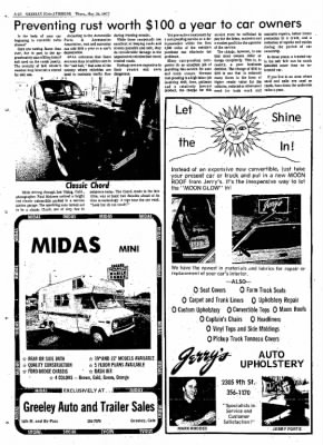 Greeley Daily Tribune from Greeley, Colorado on May 26, 1977 · Page 77