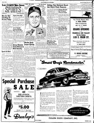 Las Cruces Sun-News from Las Cruces, New Mexico on April 22, 1951 · Page 10