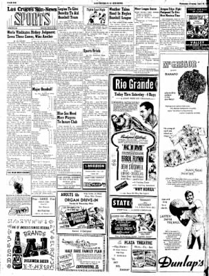 Las Cruces Sun-News from Las Cruces, New Mexico on April 25, 1951 · Page 6