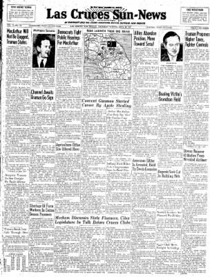 Las Cruces Sun-News from Las Cruces, New Mexico on April 26, 1951 · Page 1