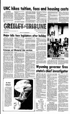 Greeley Daily Tribune from Greeley, Colorado on May 28, 1977 · Page 1