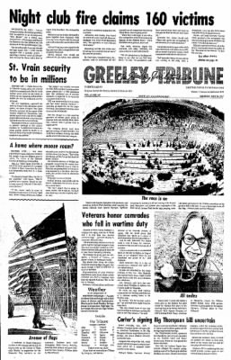 Greeley Daily Tribune from Greeley, Colorado on May 30, 1977 · Page 1