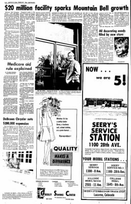 Greeley Daily Tribune from Greeley, Colorado on April 16, 1973 · Page 60