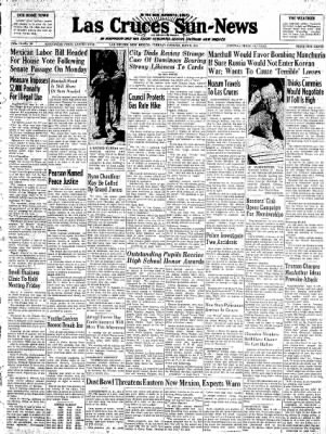 Las Cruces Sun-News from Las Cruces, New Mexico on May 8, 1951 · Page 1