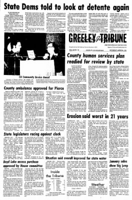 Greeley Daily Tribune from Greeley, Colorado on March 6, 1976 · Page 1