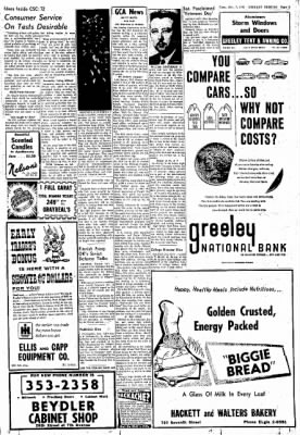 Greeley Daily Tribune from Greeley, Colorado on November 7, 1961 · Page 3