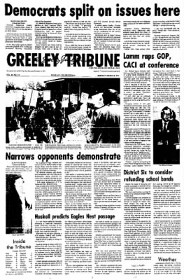 Greeley Daily Tribune from Greeley, Colorado on March 8, 1976 · Page 1