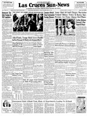 Las Cruces Sun-News from Las Cruces, New Mexico on May 25, 1951 · Page 1