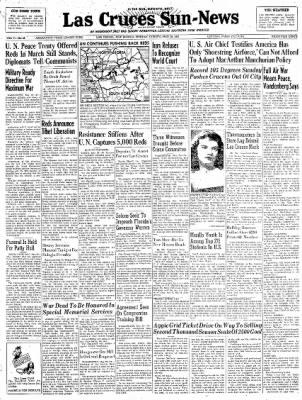 Las Cruces Sun-News from Las Cruces, New Mexico on May 28, 1951 · Page 1
