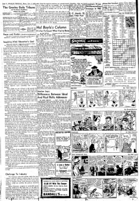 Greeley Daily Tribune from Greeley, Colorado on November 9, 1961 · Page 6