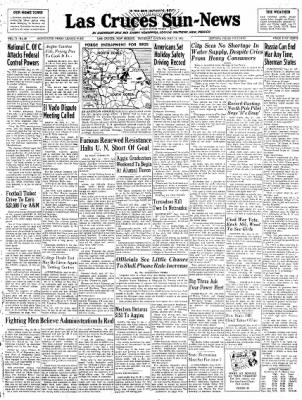 Las Cruces Sun-News from Las Cruces, New Mexico on May 31, 1951 · Page 1