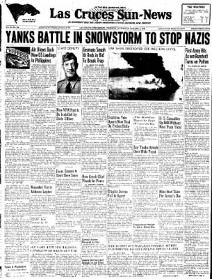 Las Cruces Sun-News from Las Cruces, New Mexico on January 4, 1945 · Page 1