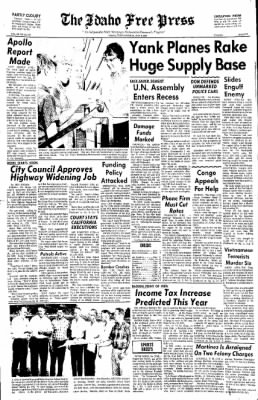 Idaho Free Press from Nampa, Idaho on July 6, 1967 · Page 1