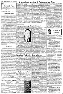 Greeley Daily Tribune from Greeley, Colorado on October 23, 1969 · Page 4