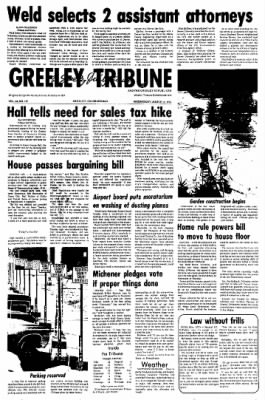 Greeley Daily Tribune from Greeley, Colorado on March 10, 1976 · Page 1