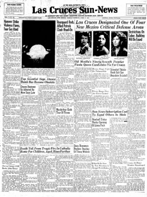 Las Cruces Sun-News from Las Cruces, New Mexico on June 17, 1951 · Page 1