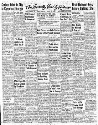 Greeley Daily Tribune from Greeley, Colorado on December 30, 1955 · Page 1
